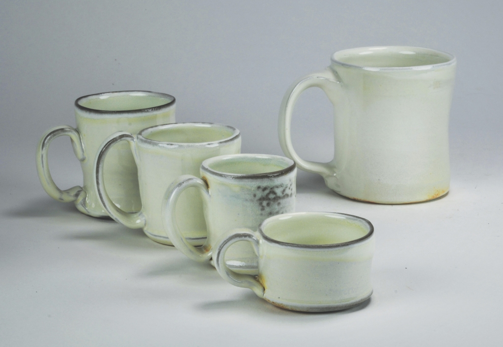 Set of ceramic mugs.